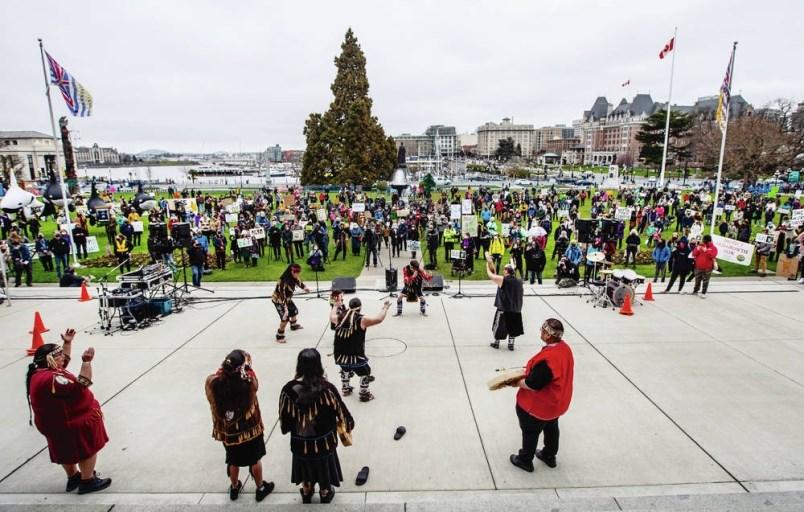 Victoria_BC_Legislature_Protest_Forest