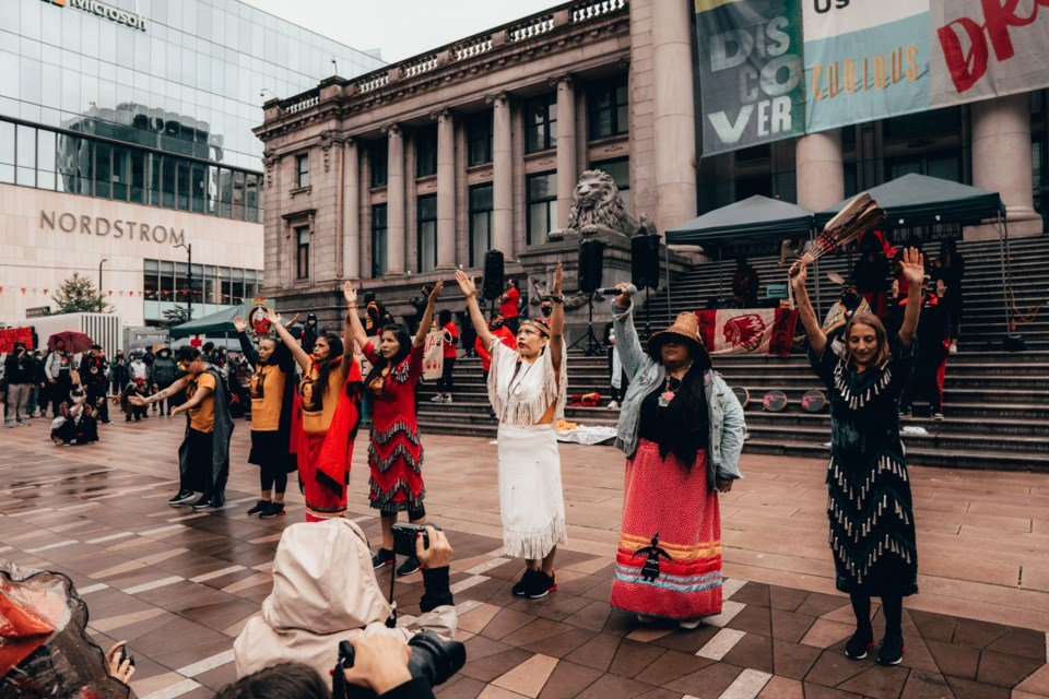 First Nations people and allies are gathering at the Vancouver Art Gallery July 1 for a Cancel Canada Day rally.