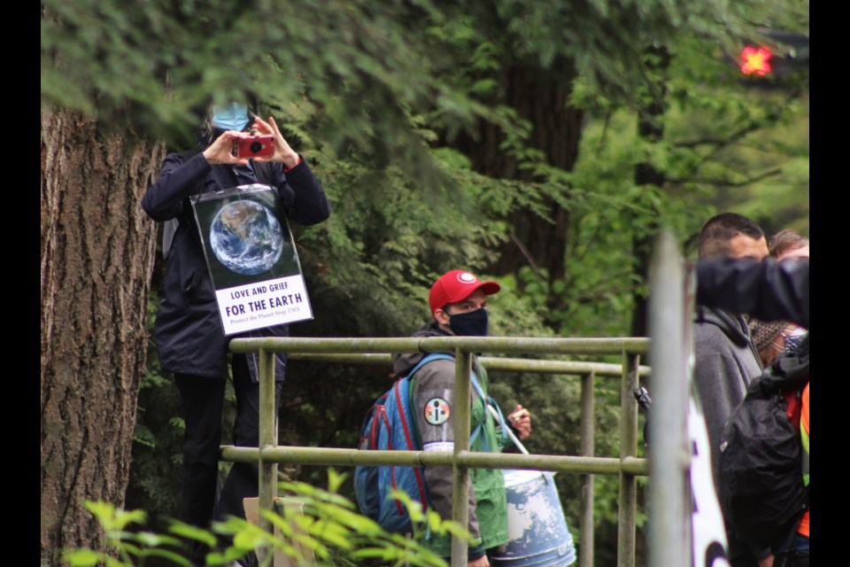 Extinction Rebellion protesters and the Vancouver Police Department met today as the climate activists aimed to block Lions Gate Bridge.