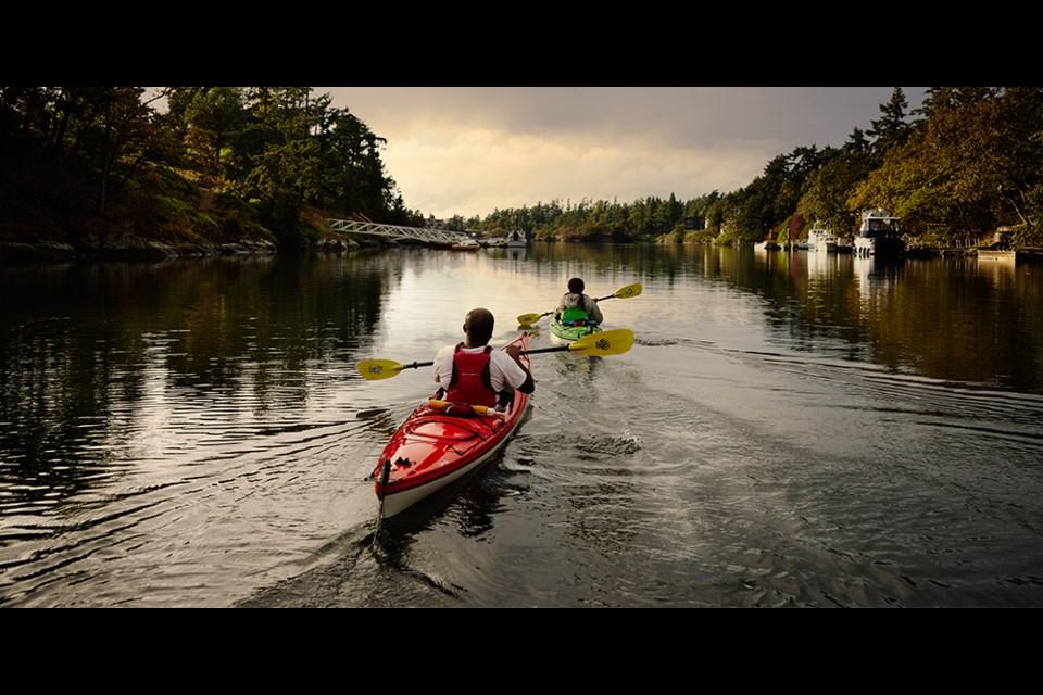 Kayaking in Victoria, B.C.