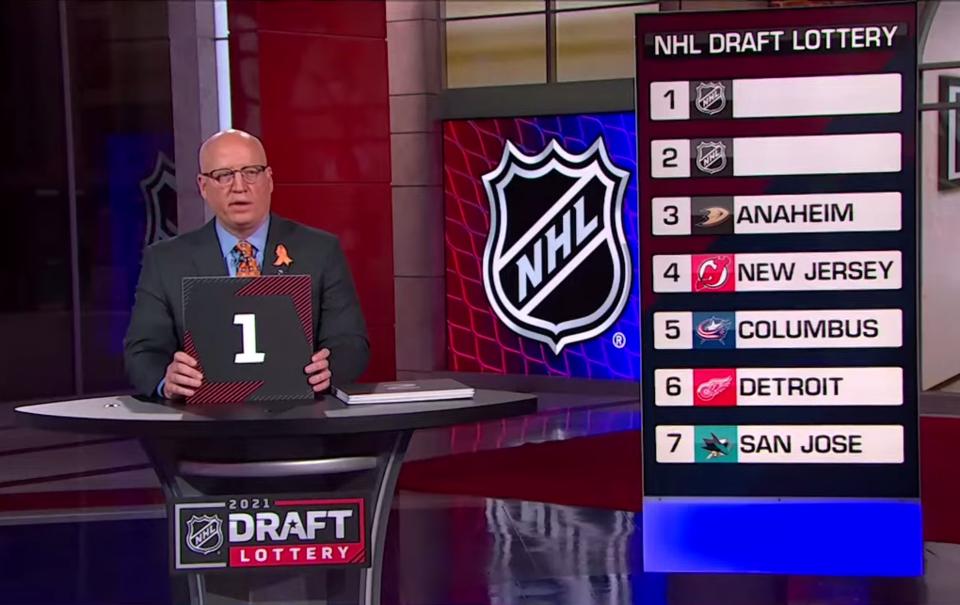 Buffalo Sabres win the 2021 NHL Draft Lottery