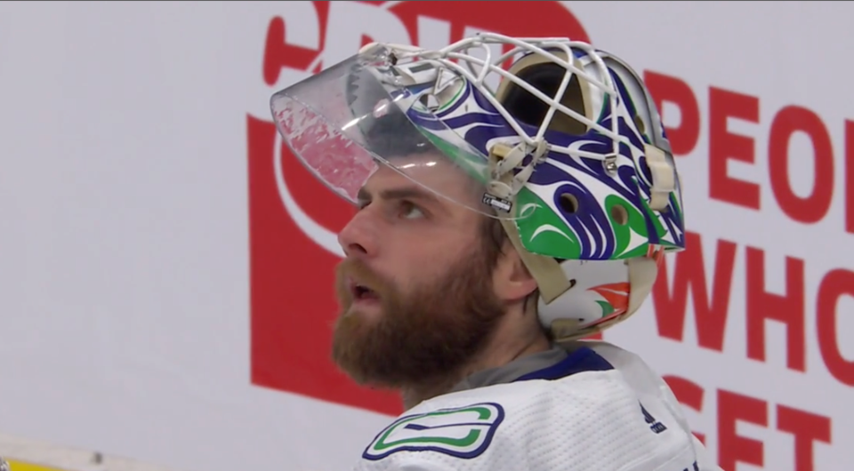Frustrated Braden Holtby