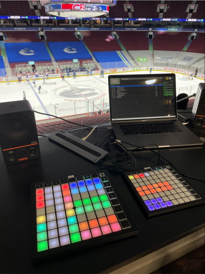 hot cue controllers at Rogers Arena