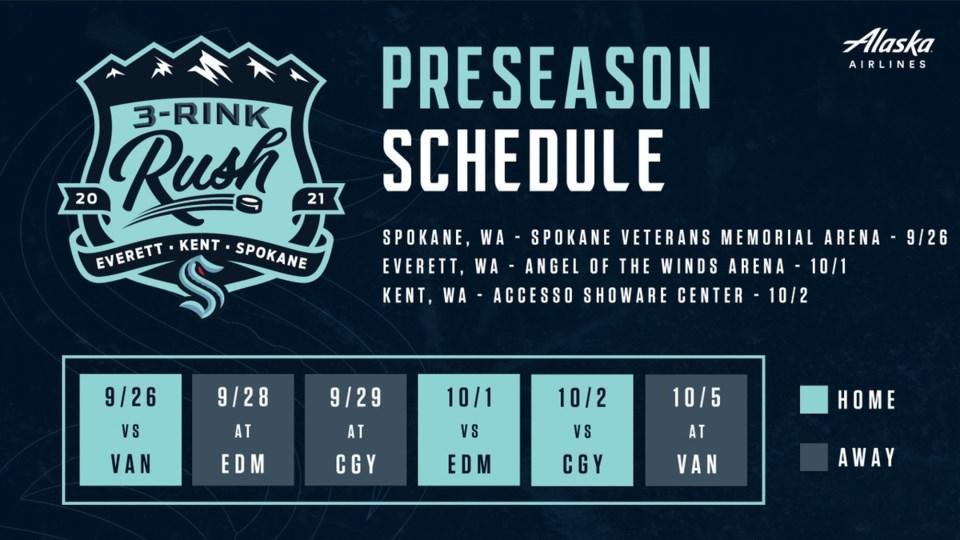 Kraken preseason schedule