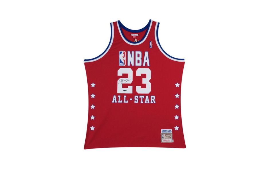 Michael Jordan signed 1989 all star jersey - Rep your colours - Vancouver