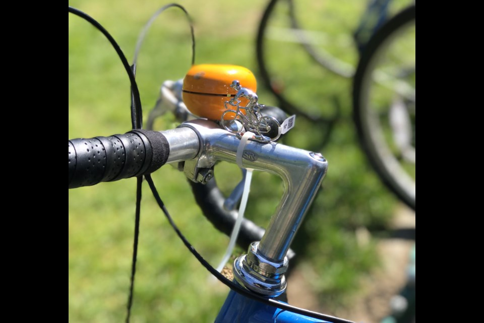 The Bike Fairy attaches charms to bicycles all over Vancouver.