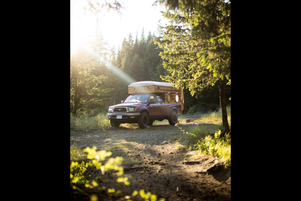 Wooden camper made in Vancouver