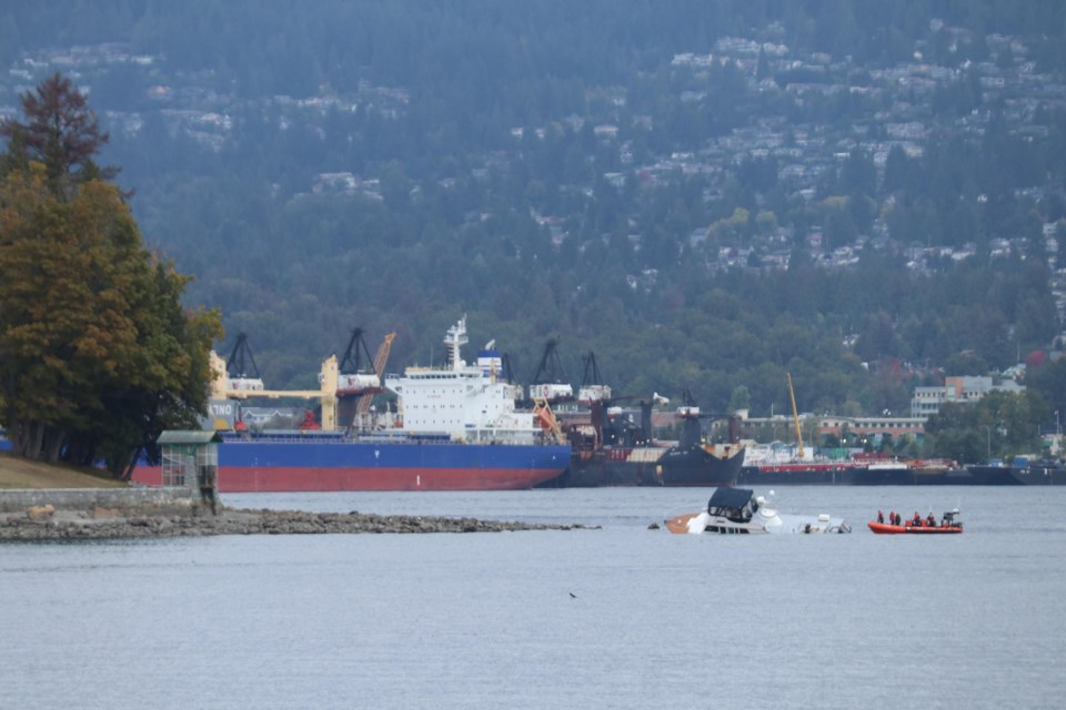 The Canadian Coast Guard received a report about a grounded vessel north of the marine Chevron Fuel Station in Coal Harbour on Monday, Sept. 20.