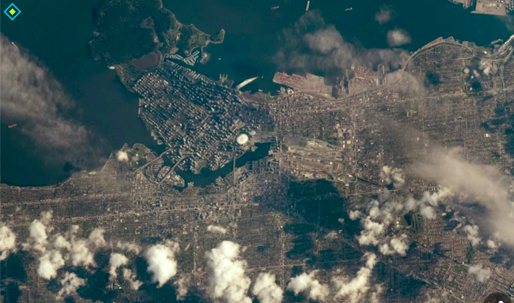 This interactive map allows you to view Vancouver from space (PHOTOS)