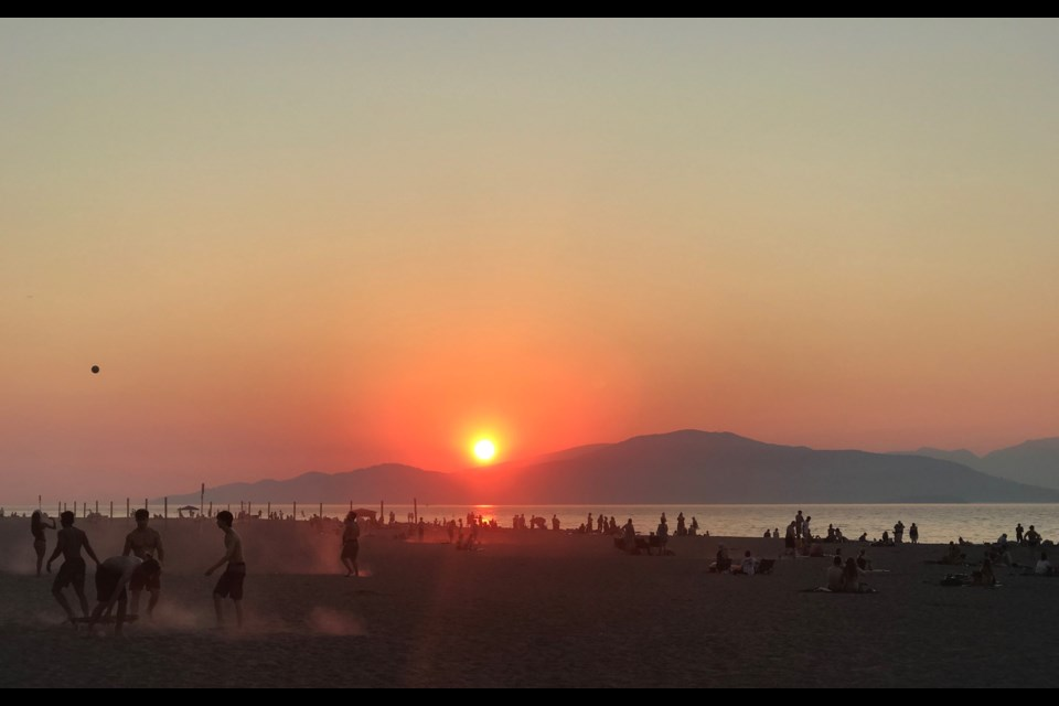 A sunset at Spanish Banks in Vancouver on June 28, 2021. Heat records fell across the province, including in Lytton, which set the all-time record for hottest temperature recorded in Canada at 47.9 C.