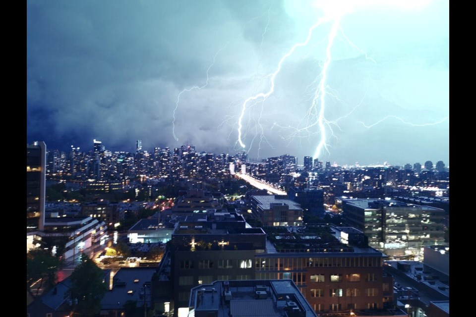Last night's thunderstorm is behind several outages reported across the Lower Mainland.