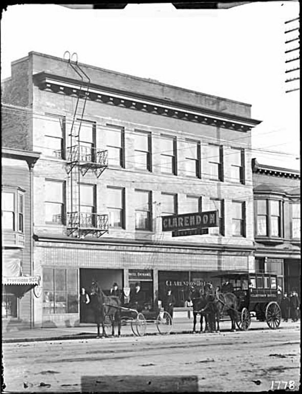 The Clarendon Hotel in 1908, the original name of the American
