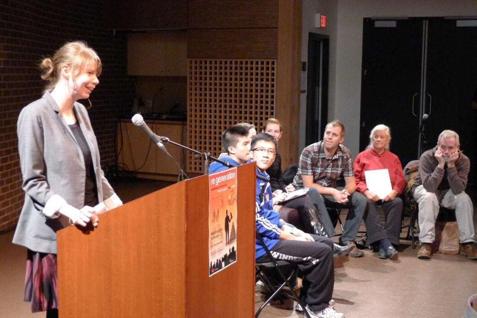 Lyndsay Poaps, organizer of ReGeneration intergenerational dialogue at SFU Woodwards