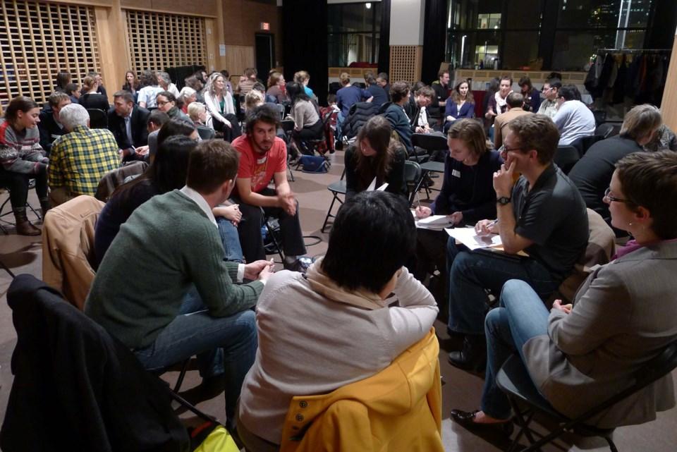 ReGeneration intergenerational dialogue at SFU Woodwards - Monica Kosmak far right