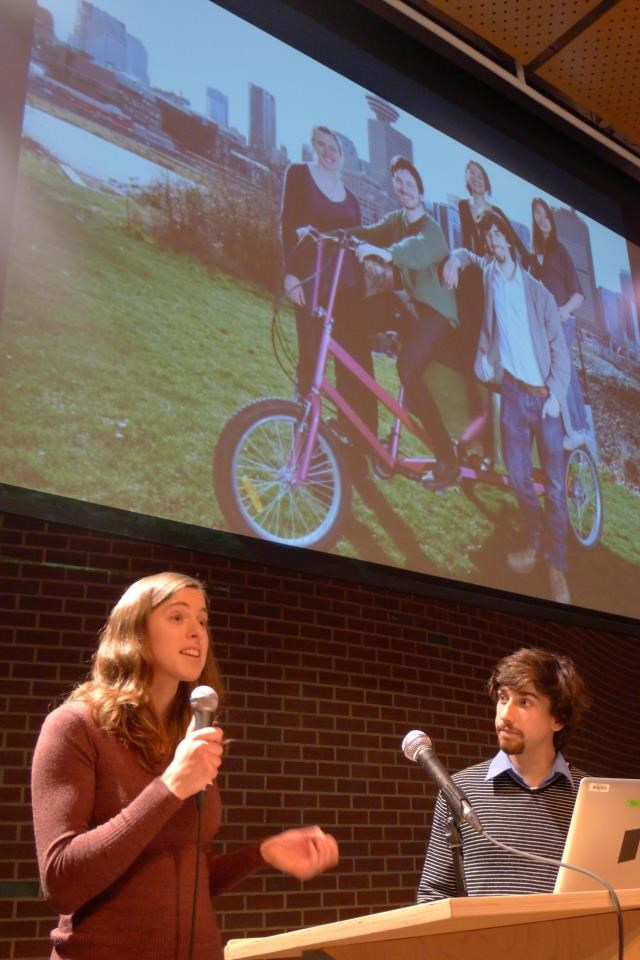Robyn and Graham of SHIFT Cargo Bike Delivery coop at ReGeneration