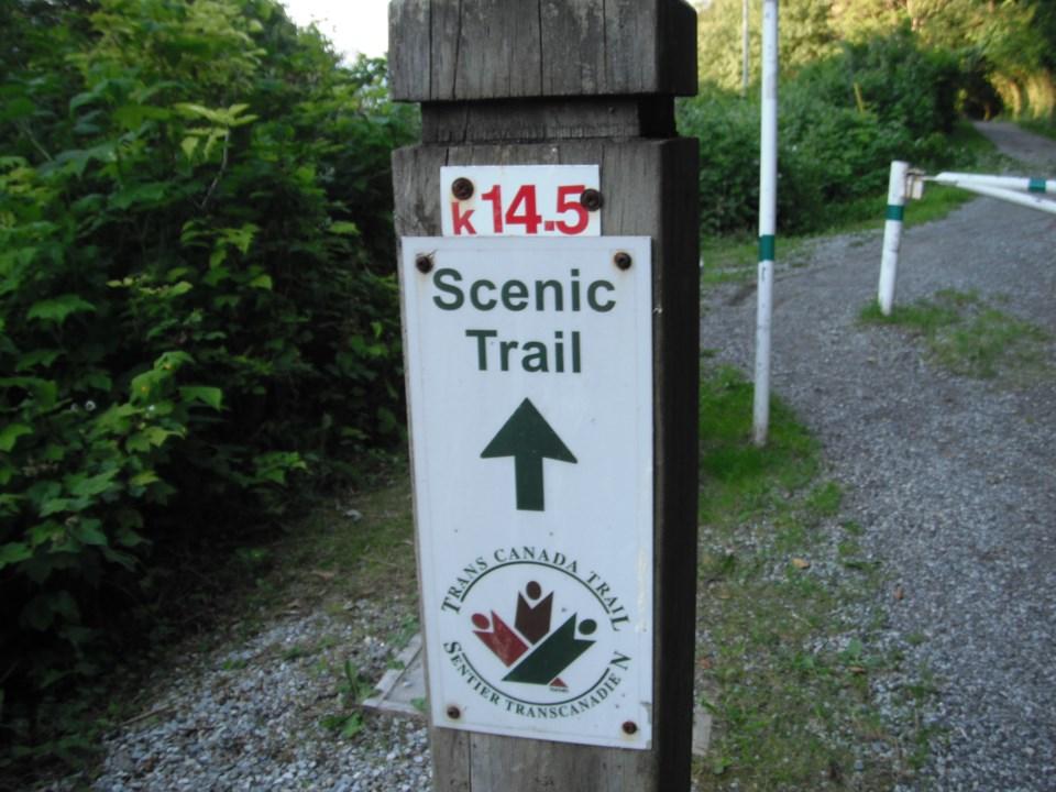 Scenic Trail Post The Trans Canada Trail