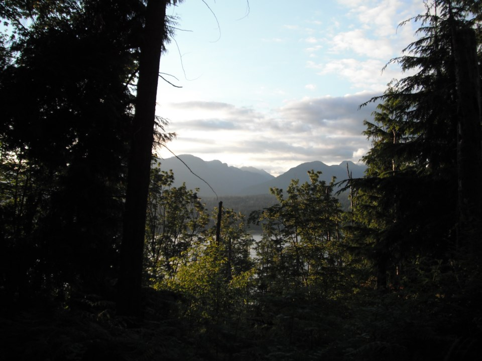 View on the Trans Canada Trail in Burnaby