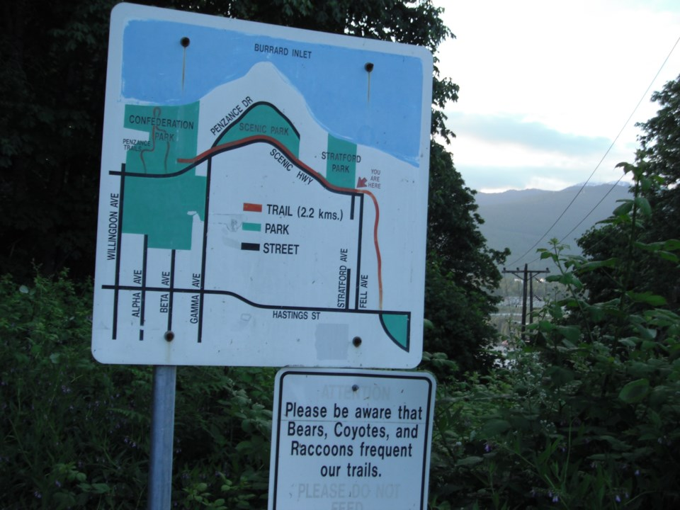 Outdoor Map of Trans Canada Trail in Burnaby