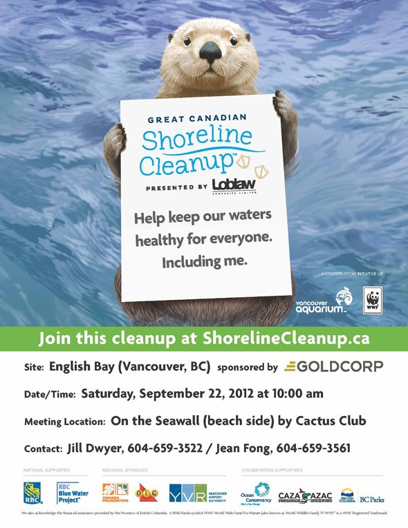 English Bay Shoreline Cleanup - Sponsored by Goldcorp
