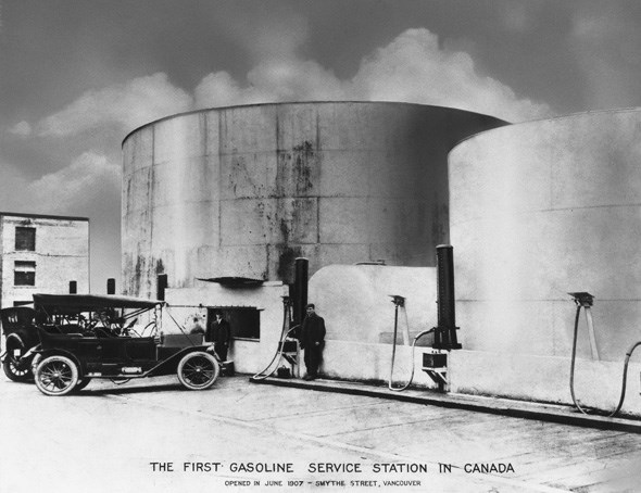 First Gas Station in Canada: Image Courtesy of Imperial Oil Esso- Glenbow Museum Archives ip-12-1-1