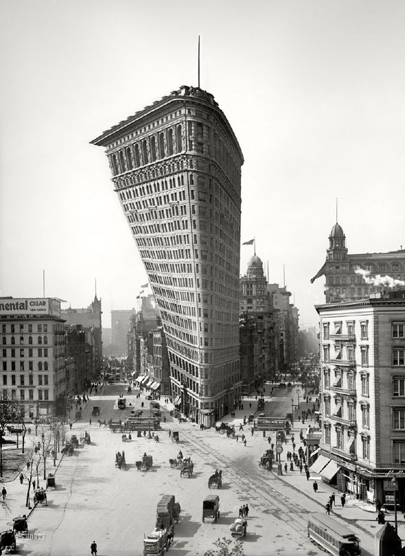 The Flatiron Building in New York, reimagined
