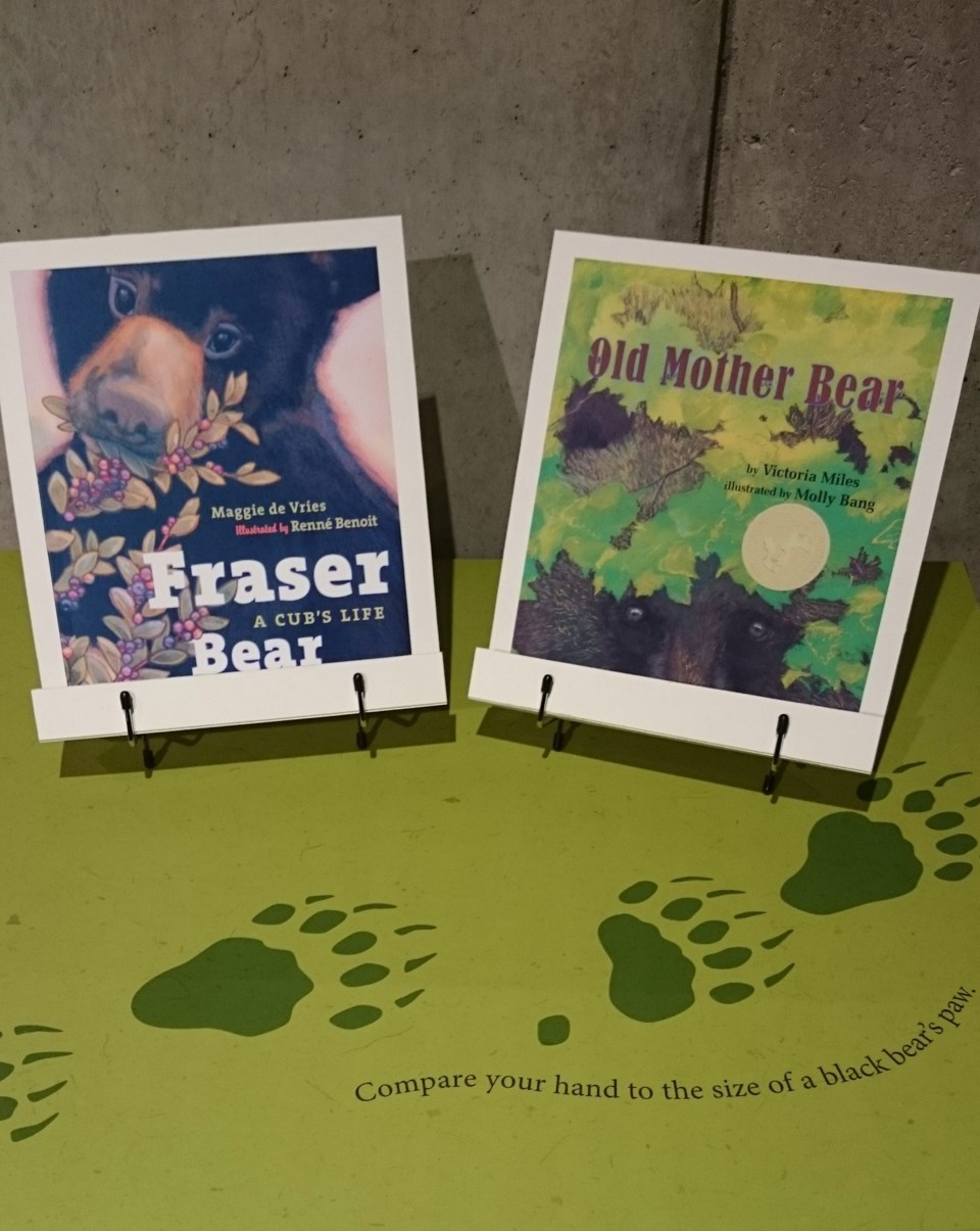 A couple of the books on an activity table in the Backyard Biodiversity exhibition.