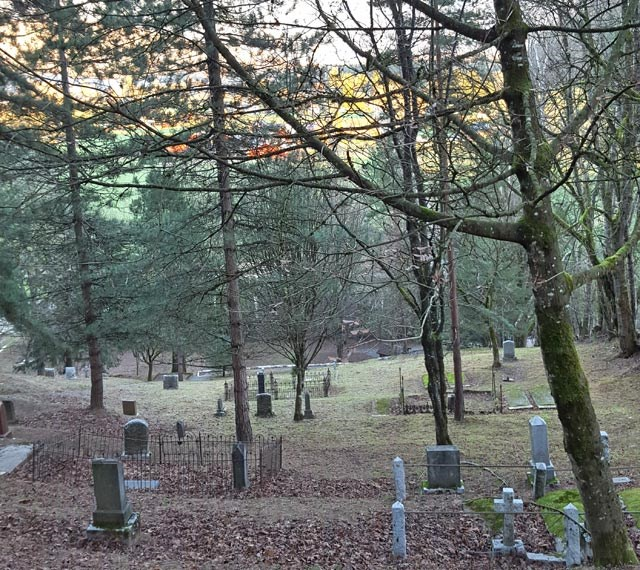 The view from near the top of the Old Agassiz Cemetery