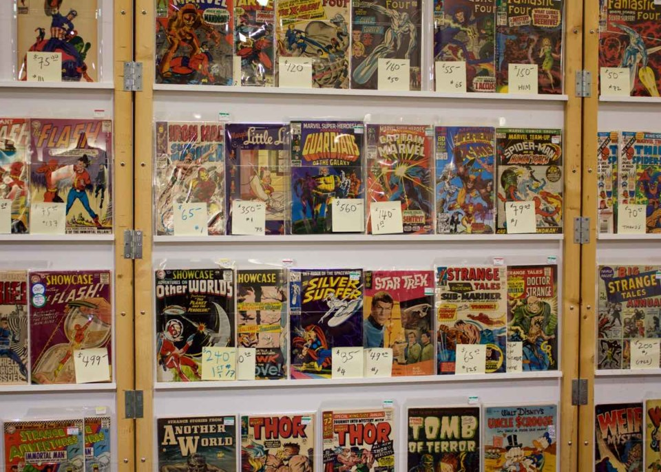 Vintage comic books at the Comic Show. Photo by Philip Moussavi