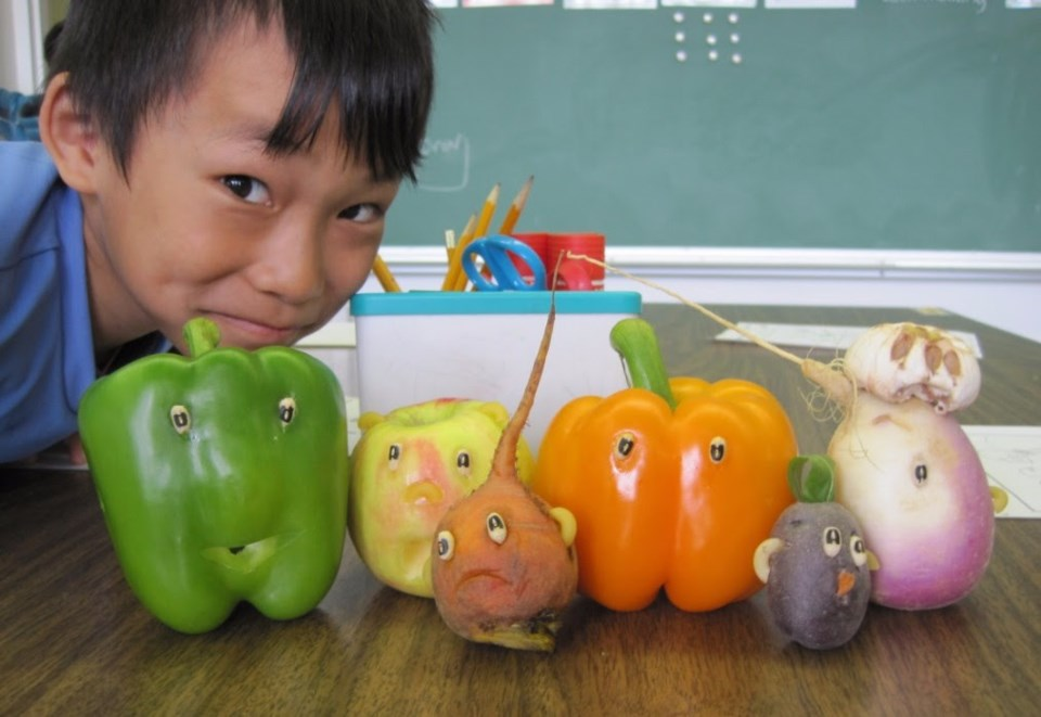 Fun with vegetables.