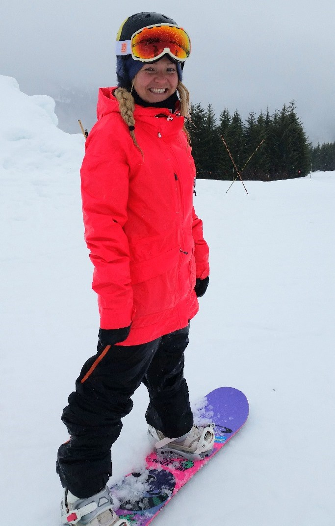 3-time Olympic snowboarder Mercedes Nicoll.