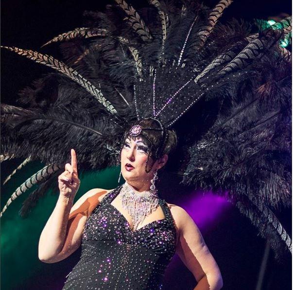 Betsy Bottom Dollar. Hosting the International Cabaret on Friday, May 6th. img: