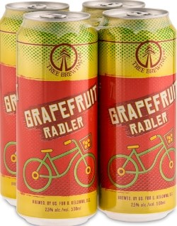 Tree Brewing Grapefruit Radler.