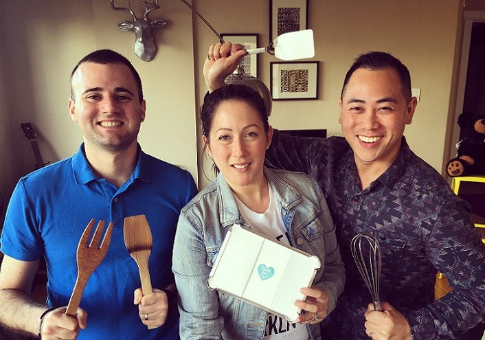 Co-founders Andrea & Eddy (centre & right) with advocate / husband Thomas (left)
