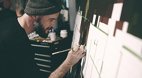 Artist Painting ROVE art walk