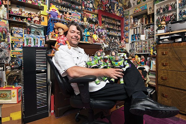 Angus Bunke, action figure collector. All photos below by Rececca Blissett.
