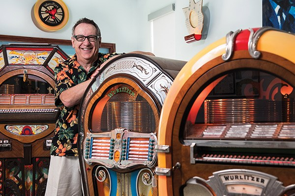 Gerry Parson, jukebox and toaster collector