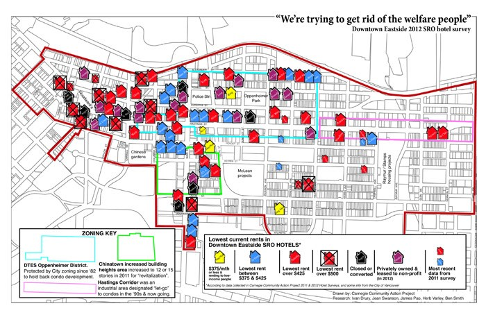 The CCAP's hotel gentrification map from a 2012 report