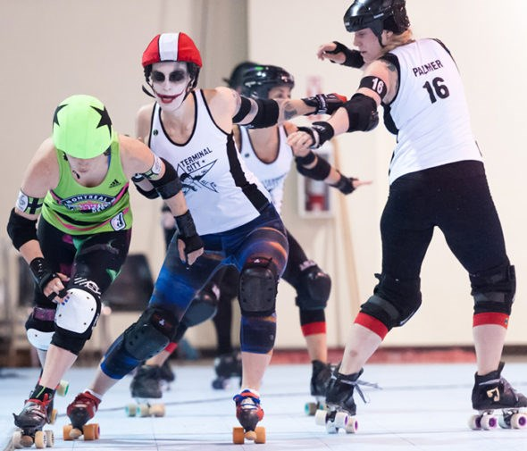 Terminal City Rollergirls. Photo by Photo by Bob Ayers