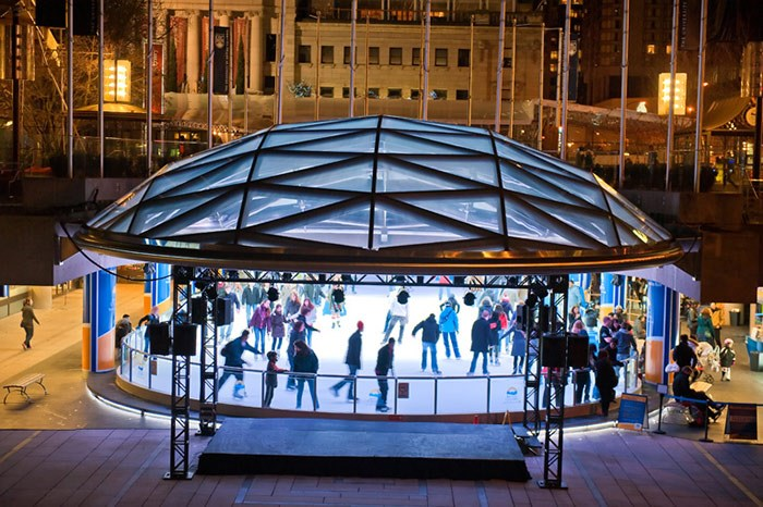 Ice skating at Robson Square's rink in downtown Vancouver. V.I.A. file photo