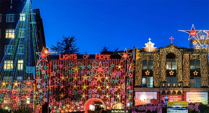 St Paul's Hospital will once again glow bright with thousands of lights for the 22nd annual Lights of Hope display. File photo