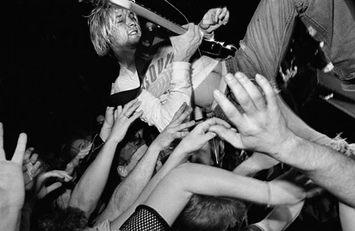 Nirvana at the Commodore in 1991. Photo credit: Charles Peterson.