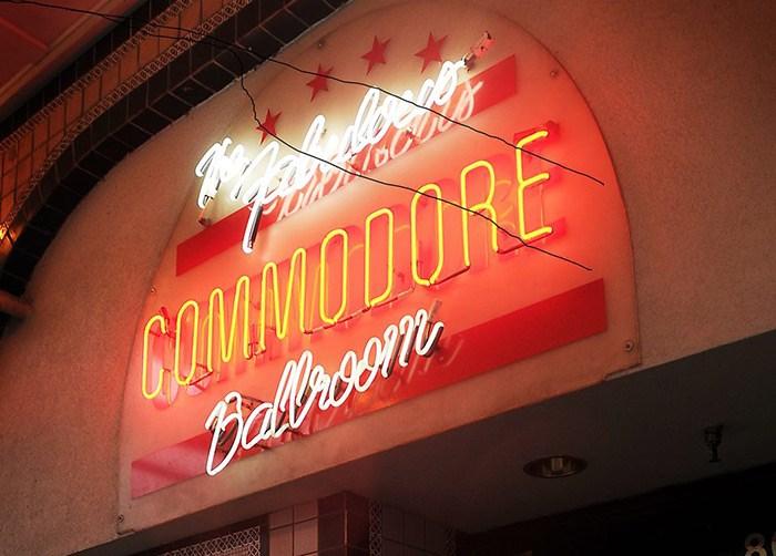 Photo: Commodore Ballroom.