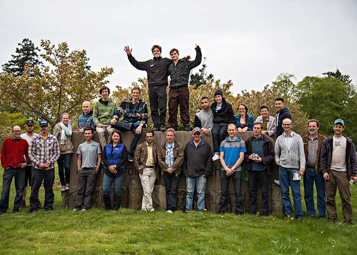 The first class of Horticulture Training Program students and staff members
