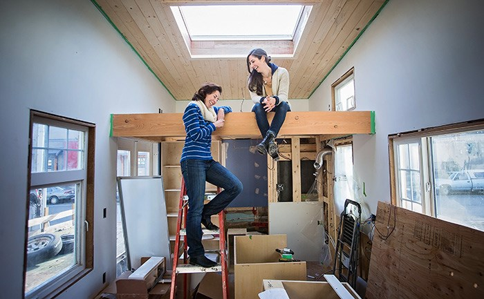 Anastasia Koutalianos and Samantha Gambling, co-founders of the BC Tiny House Collective