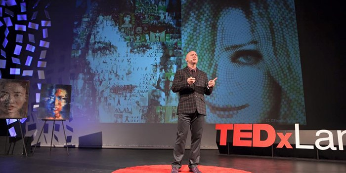 Dan at TEDx Langley.