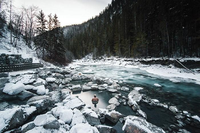 Lussier Hot Springs.Photo: Stevin Tuchiwsky.