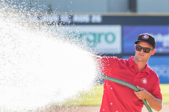 Vancouver Canadians head groundskeeper Ross Baron was named Sports Turf Manager of the Year Award for the Northwest League.