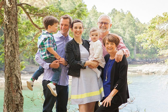 Erin Barrett says her family's support sustained her. In this May 2016 photo she's joined by her son Robertson, husband Tom Frohlich, daughter Edie and her parents David Barrett and Linda Robert.