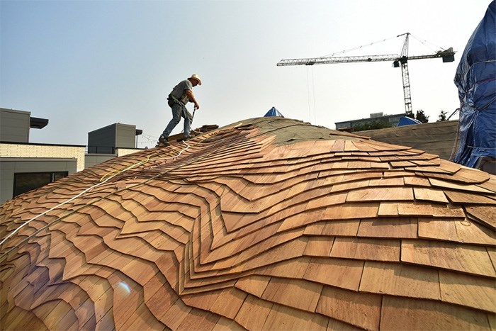 The laborious task of re-roofing the so-called