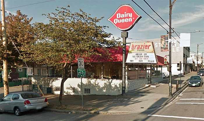 The property at the corner of East Hastings and Lakewood Drive is home to a long-standing Dairy Queen - but not for long. | Google Maps